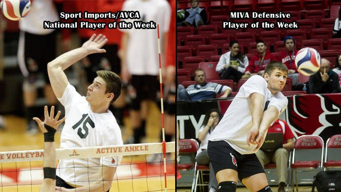 Men's Volleyball Earns MIVA and National Accolades - Ball State