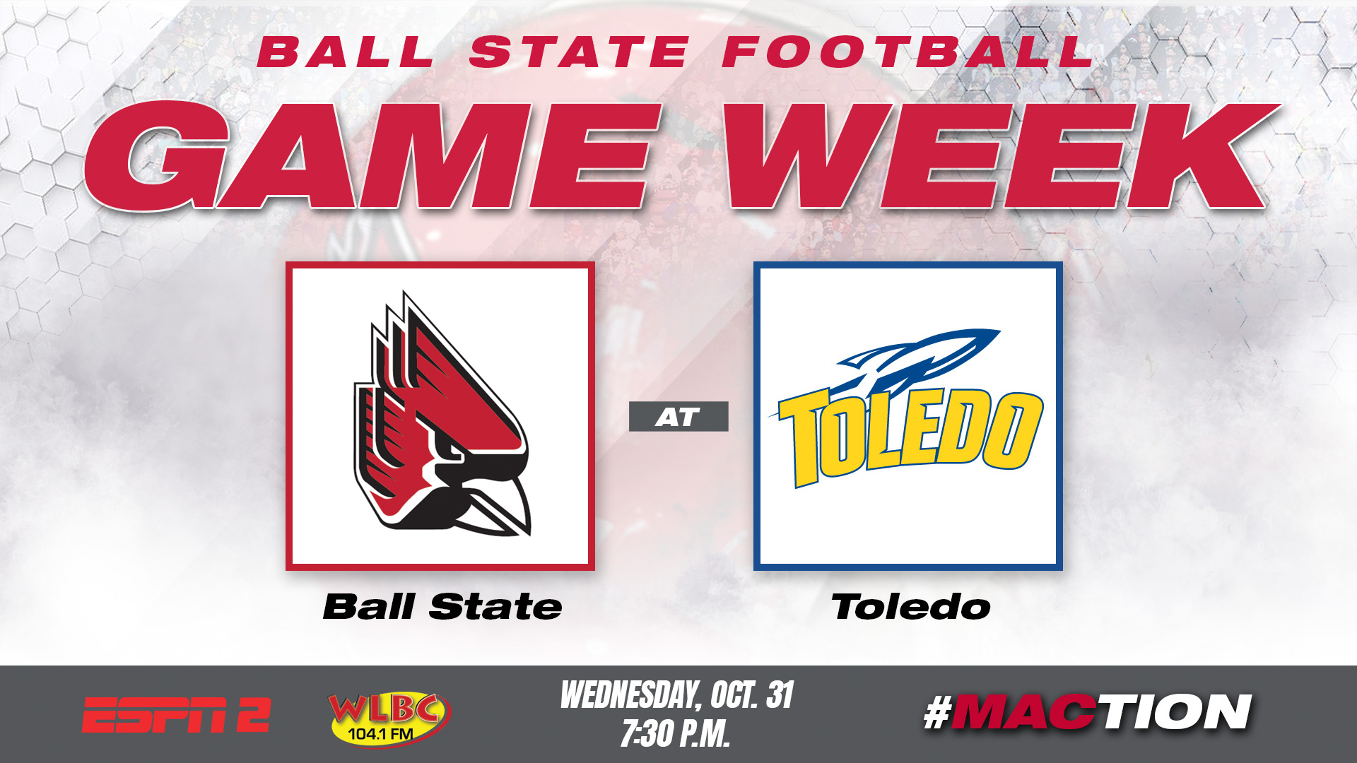 game day central: ball state and toledo set to meet halloween night